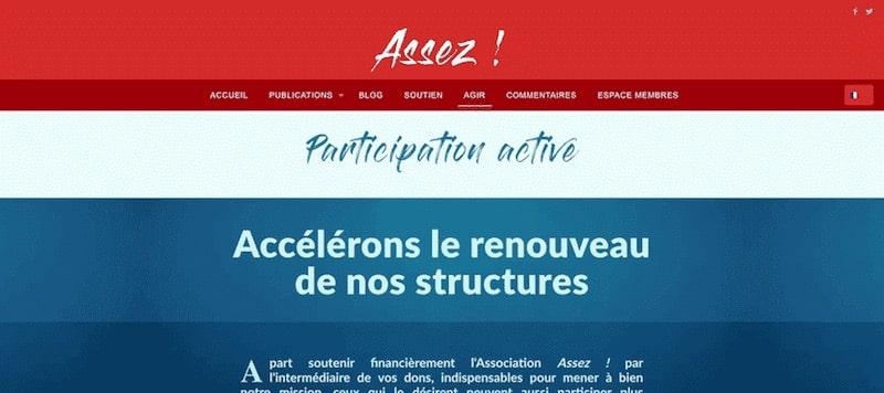 Enough Association Site Internet Page agir