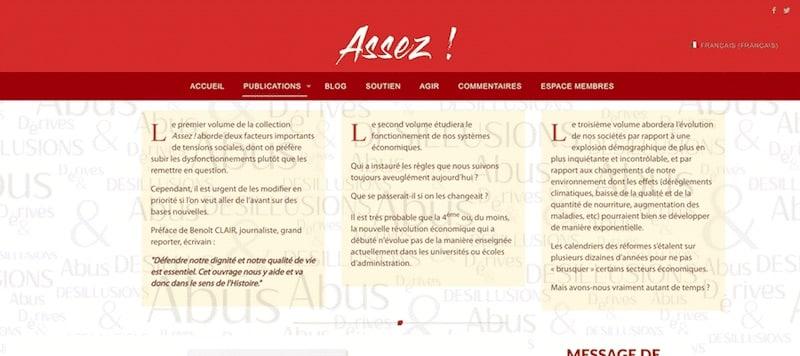 Enough Association Site Internet Page publication