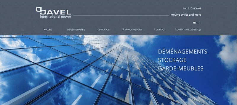 Davel Site internet Page accueil
