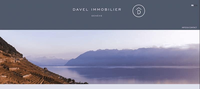 Davel Site internet Page contact