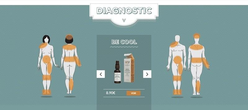 Les Chochottes site internet page diagnostique