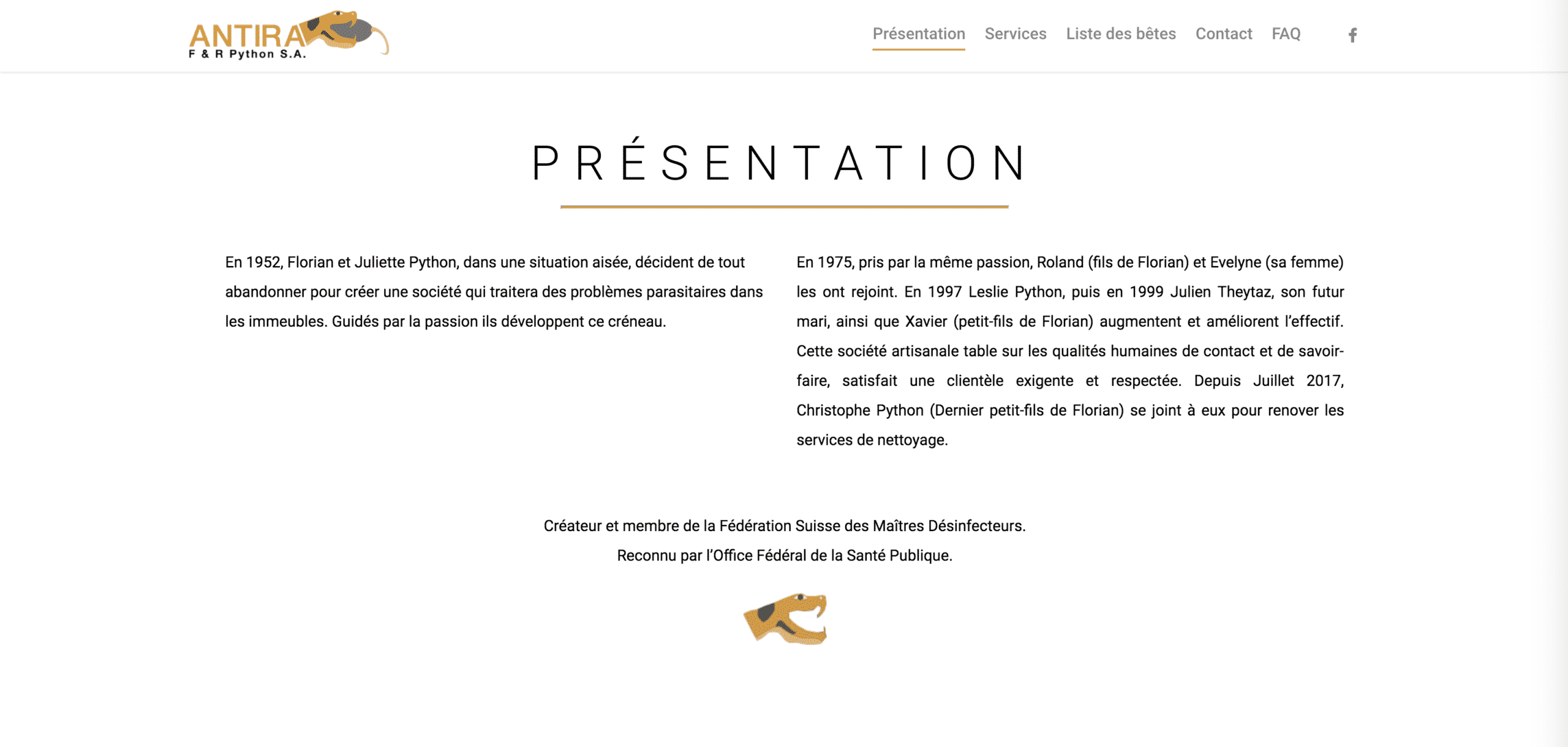 page présentation antira
