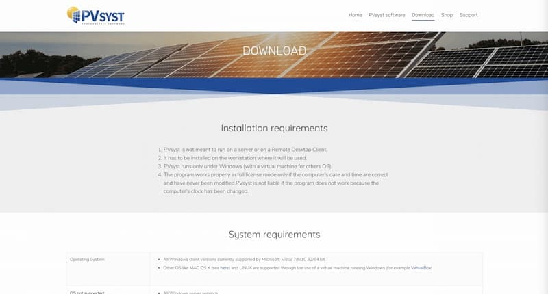 PVSTYS site internet page download