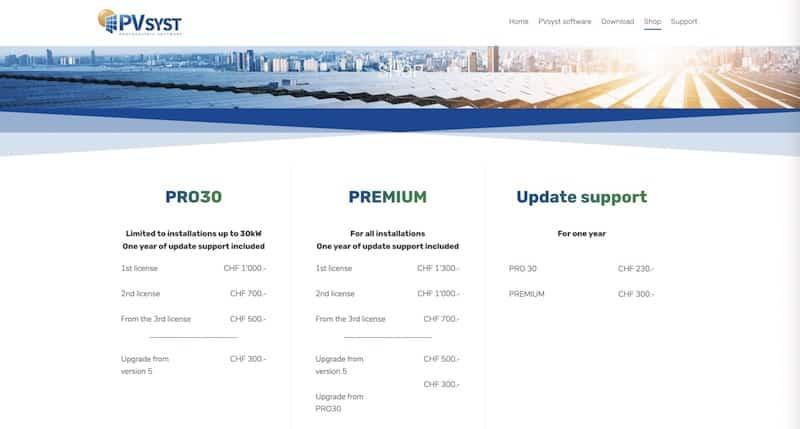 PVSTYS site internet page shape