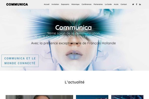 page accueil Communica