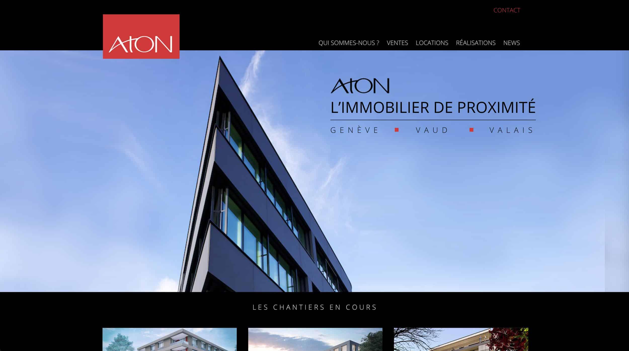page accueil Aton