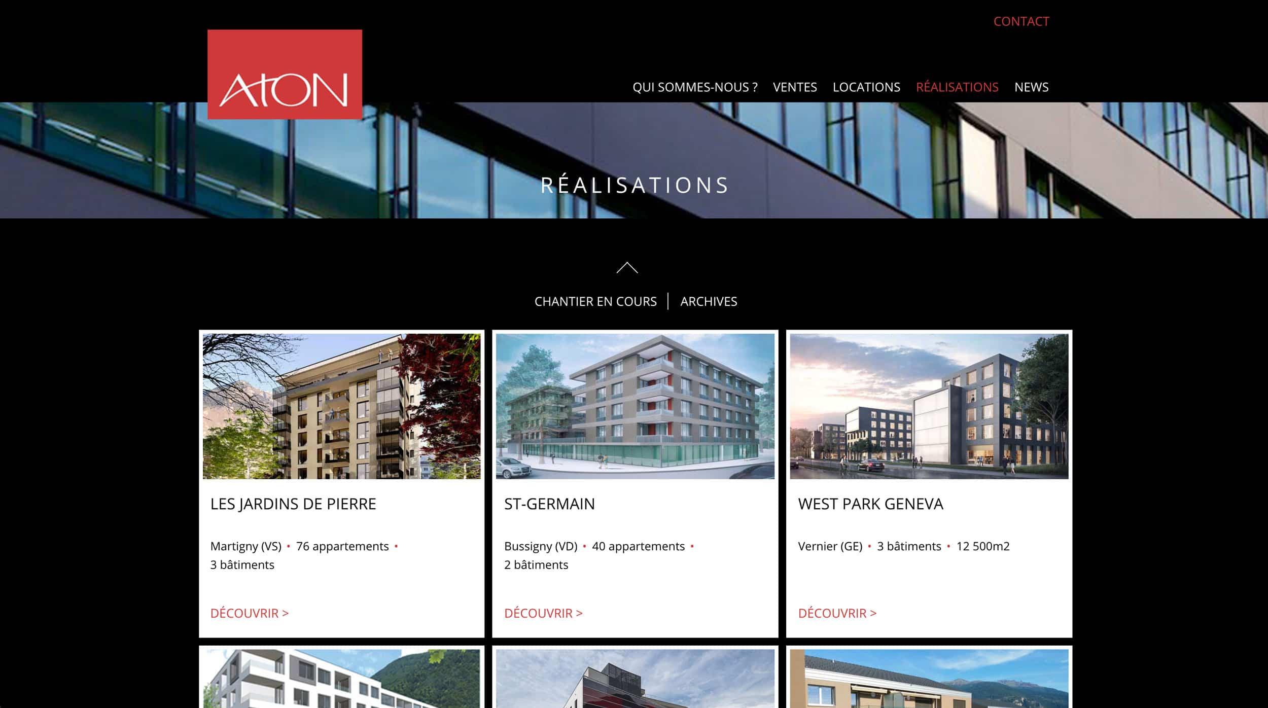 page réalisation Aton