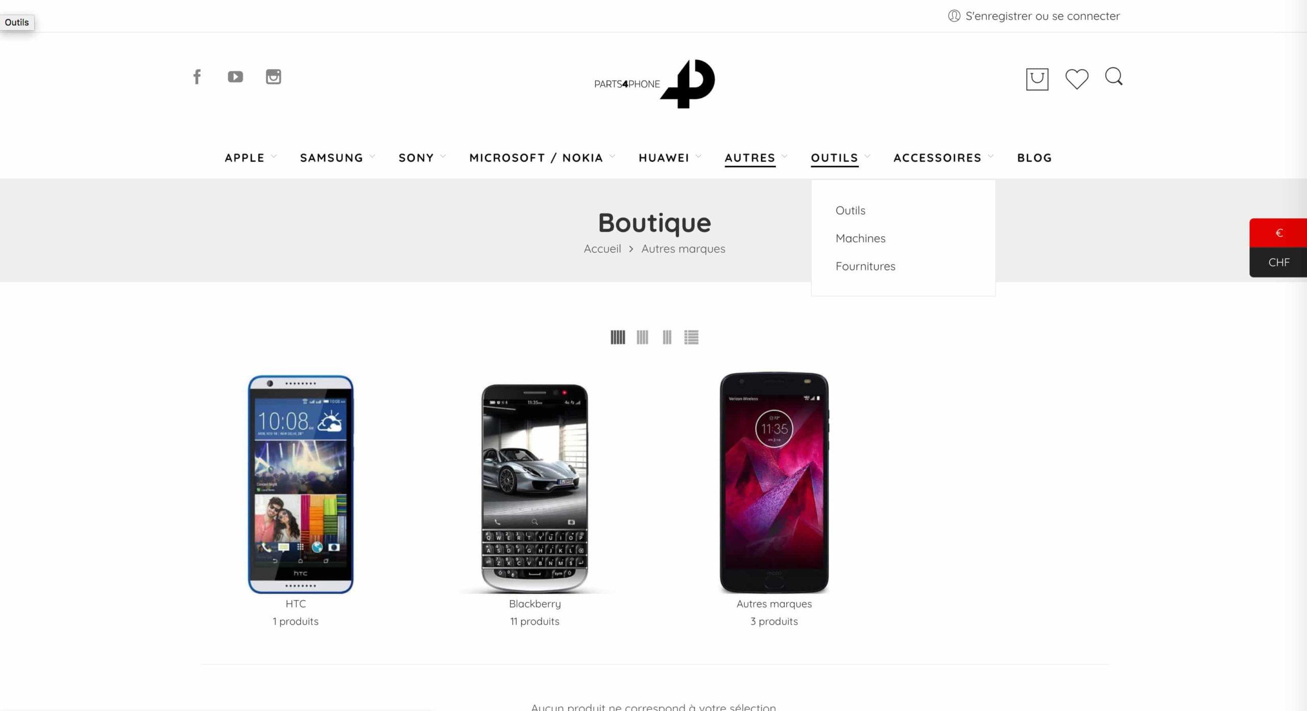 page boutique phone