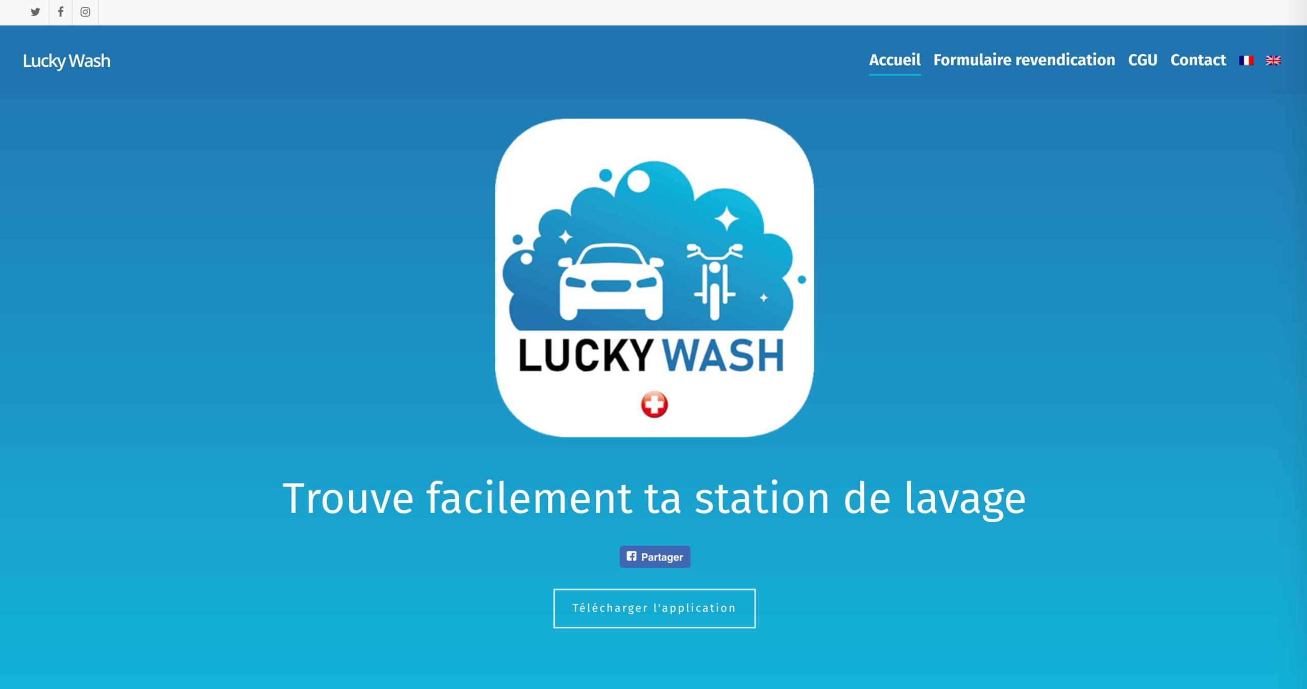 page accueil lucky wash 4