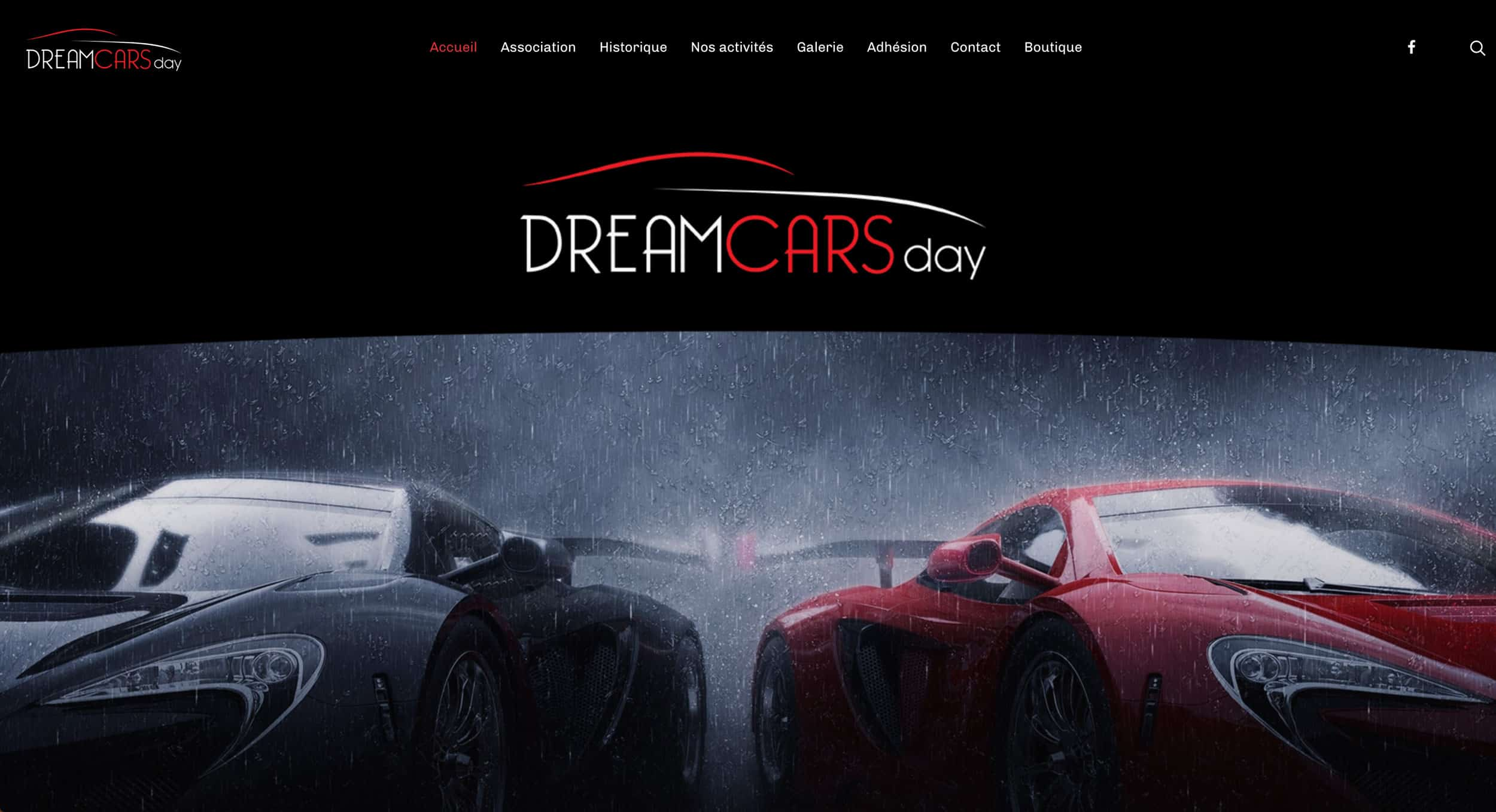 accueil page dreamcars