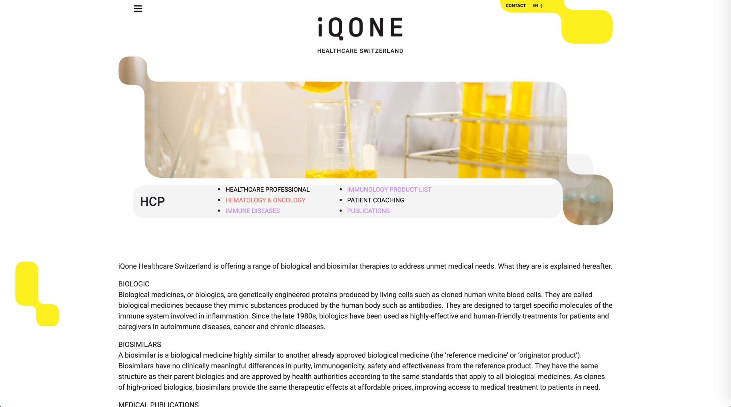 page hcp iqone
