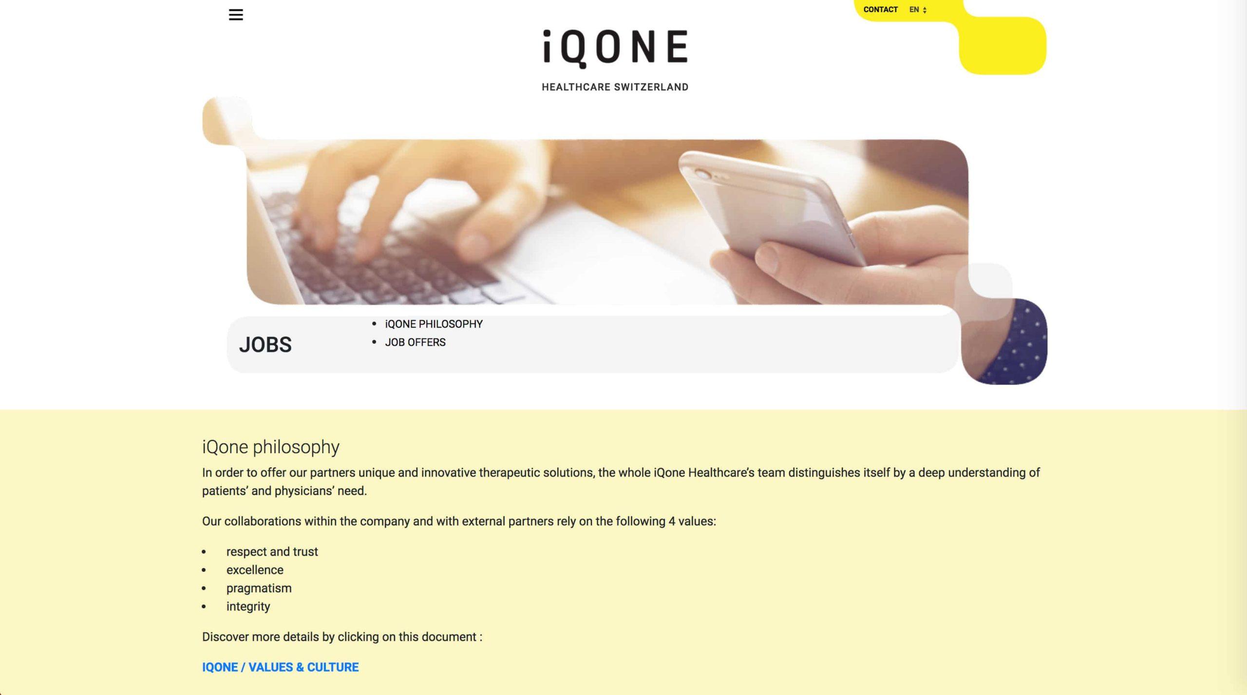 page jobs iqone