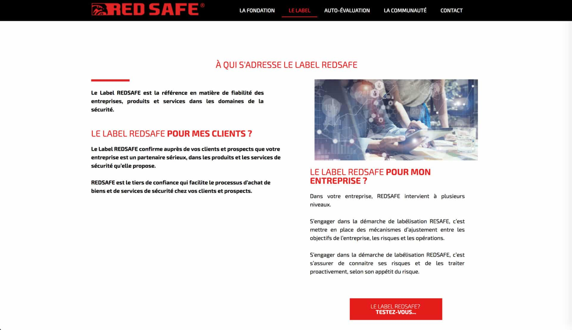 page label red safe