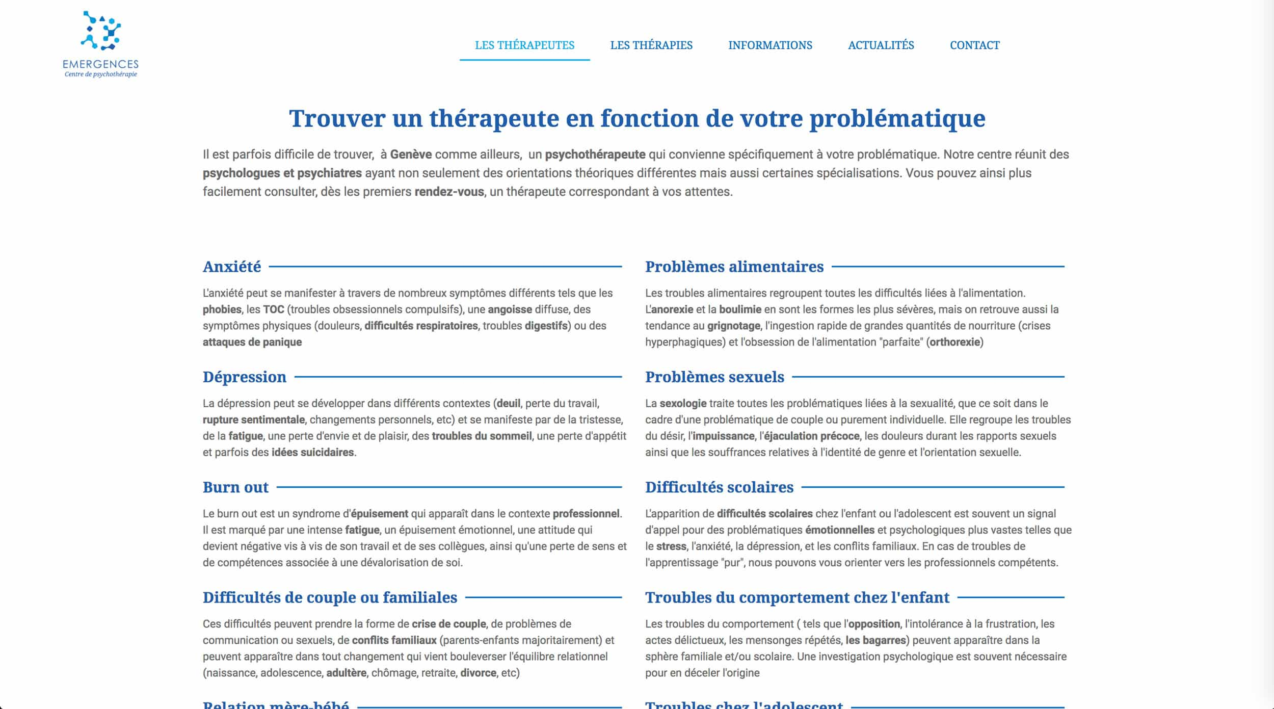 page thérapies emergences 2