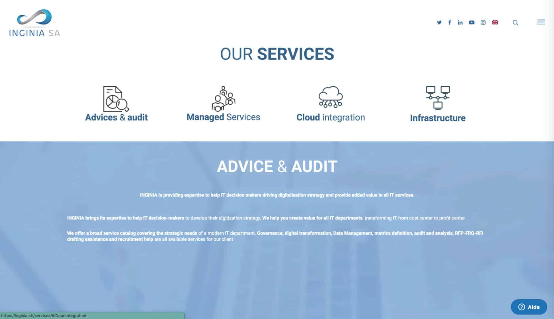 page service ingina