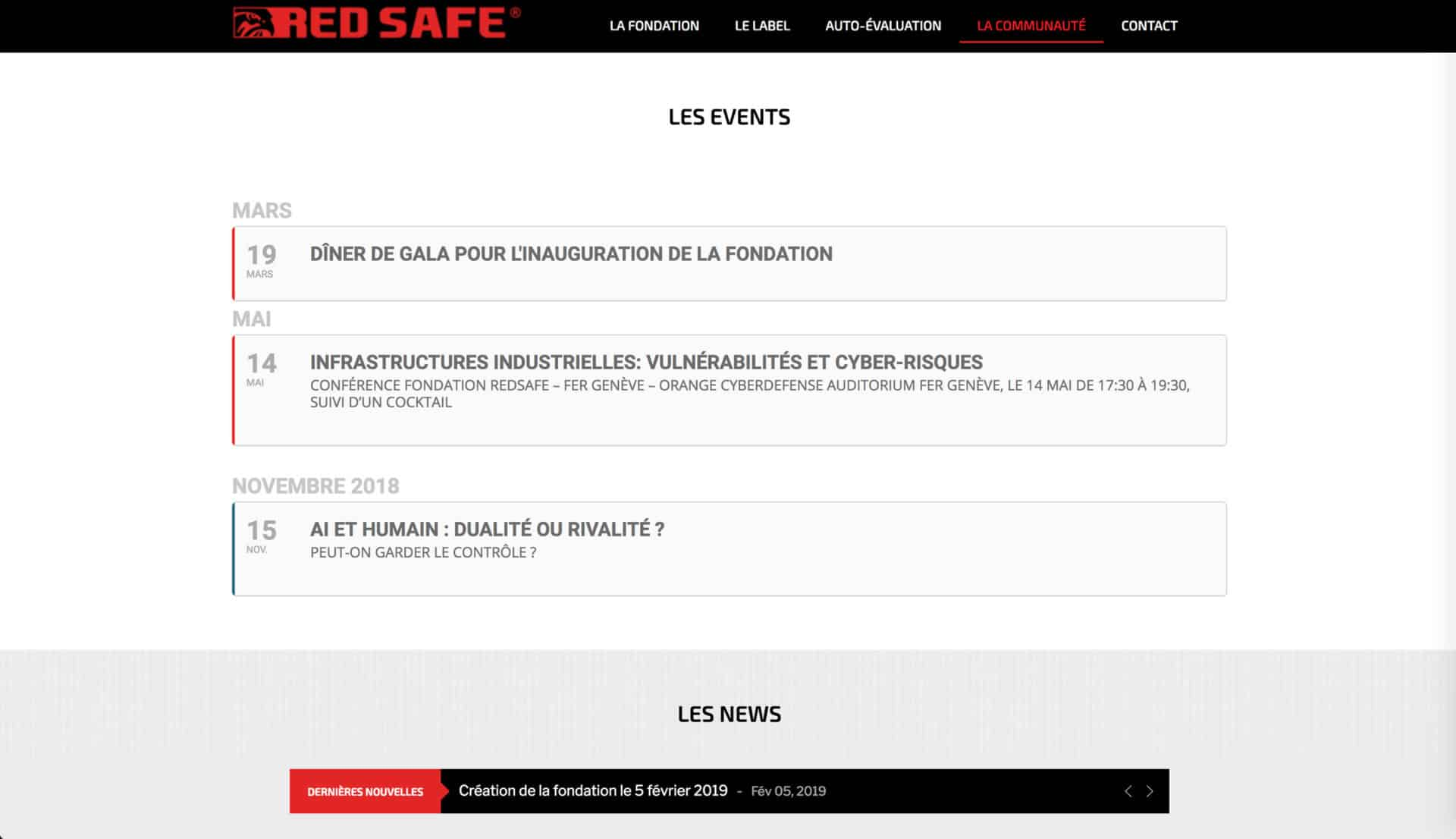 page event red safe