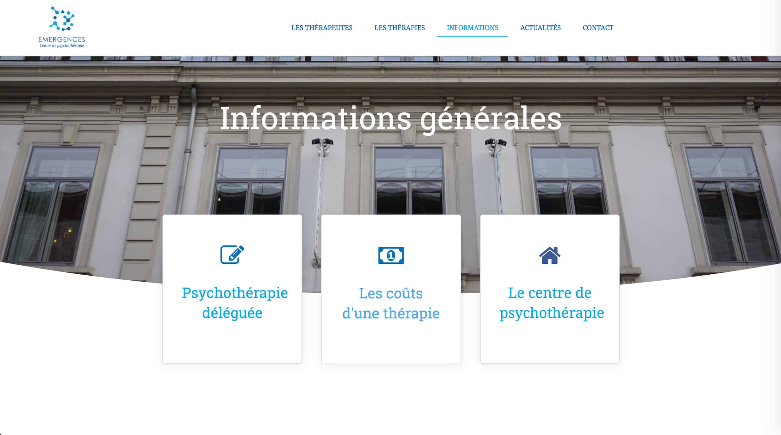 page information emergences