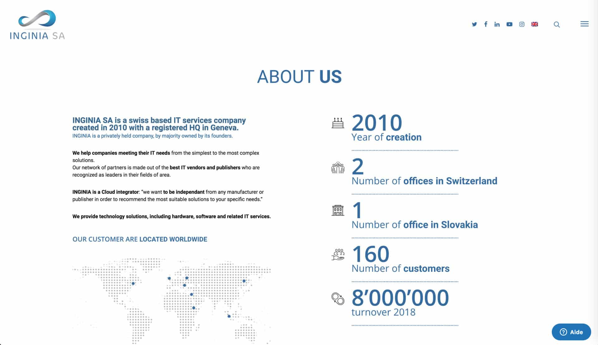 page presentation ingina