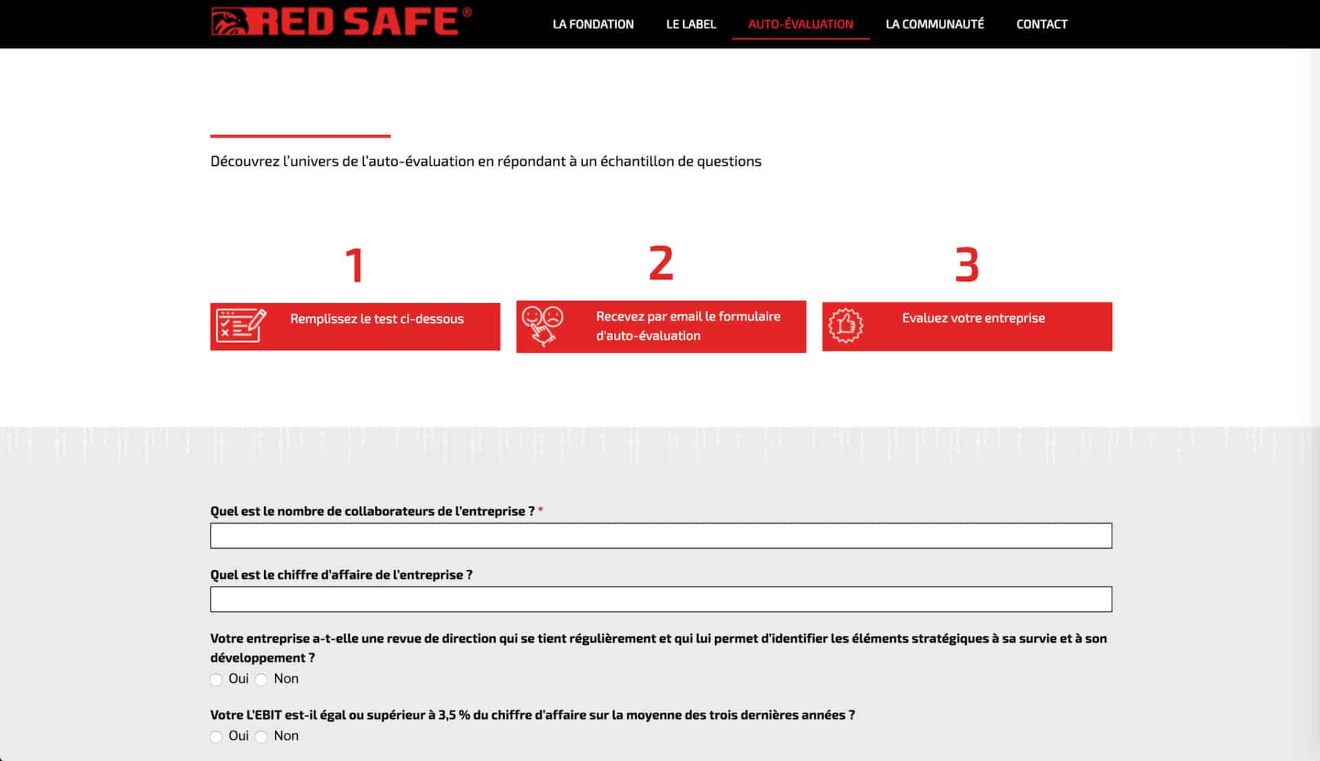 page auto evaluation red safe
