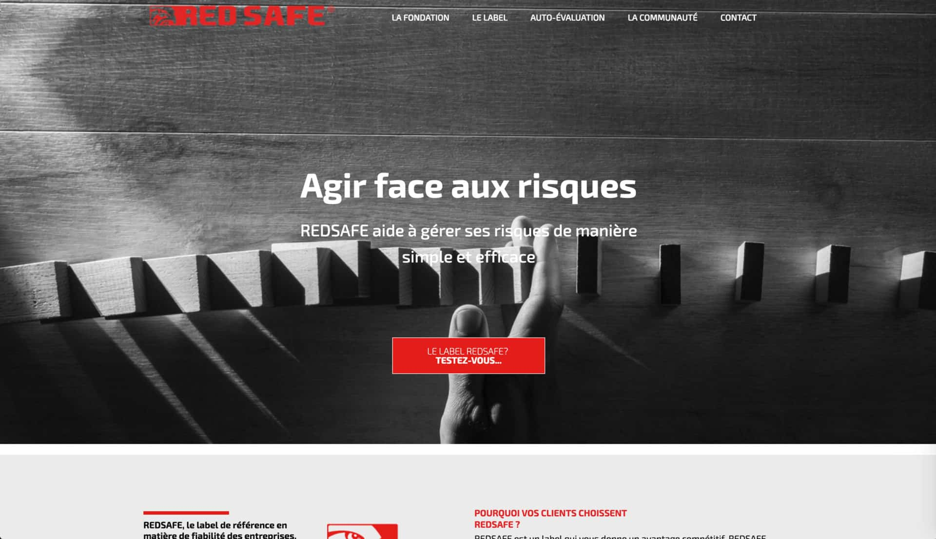 accueil page red safe
