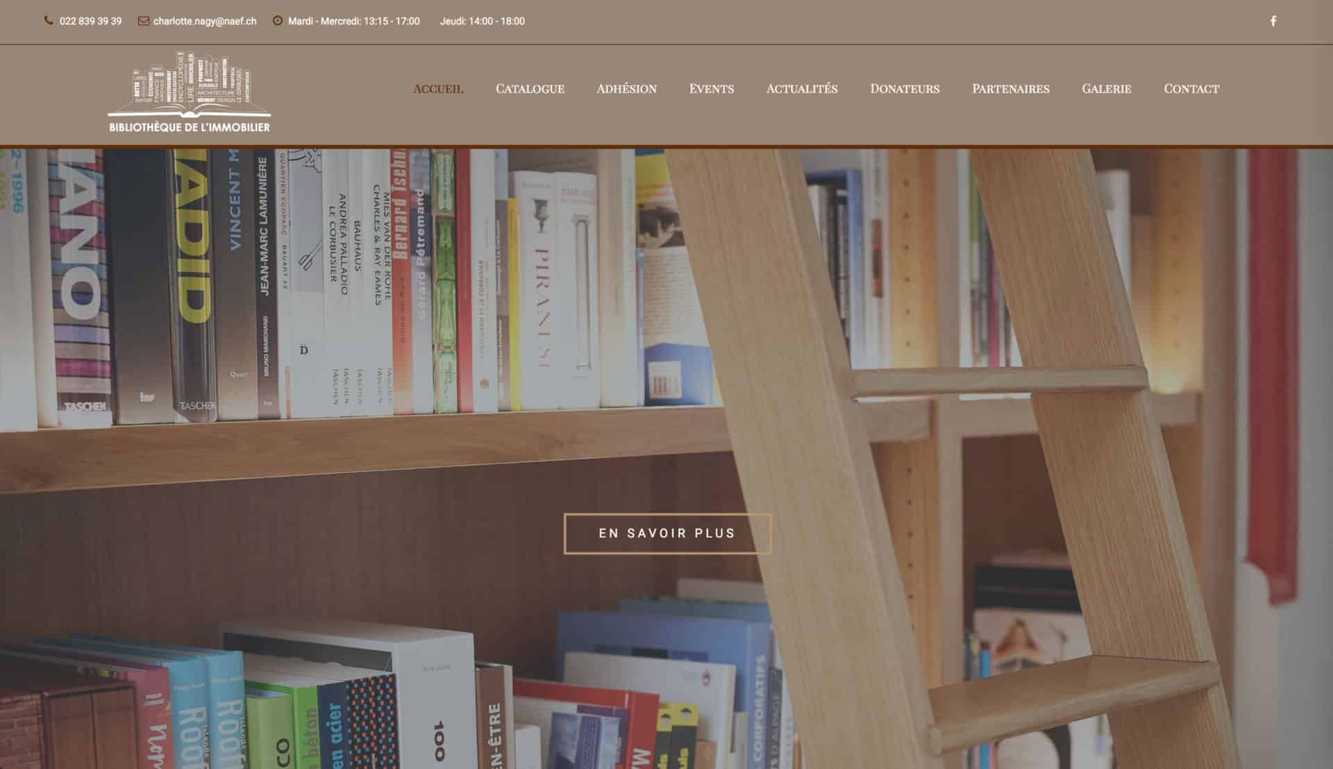page acceuil biblio immo