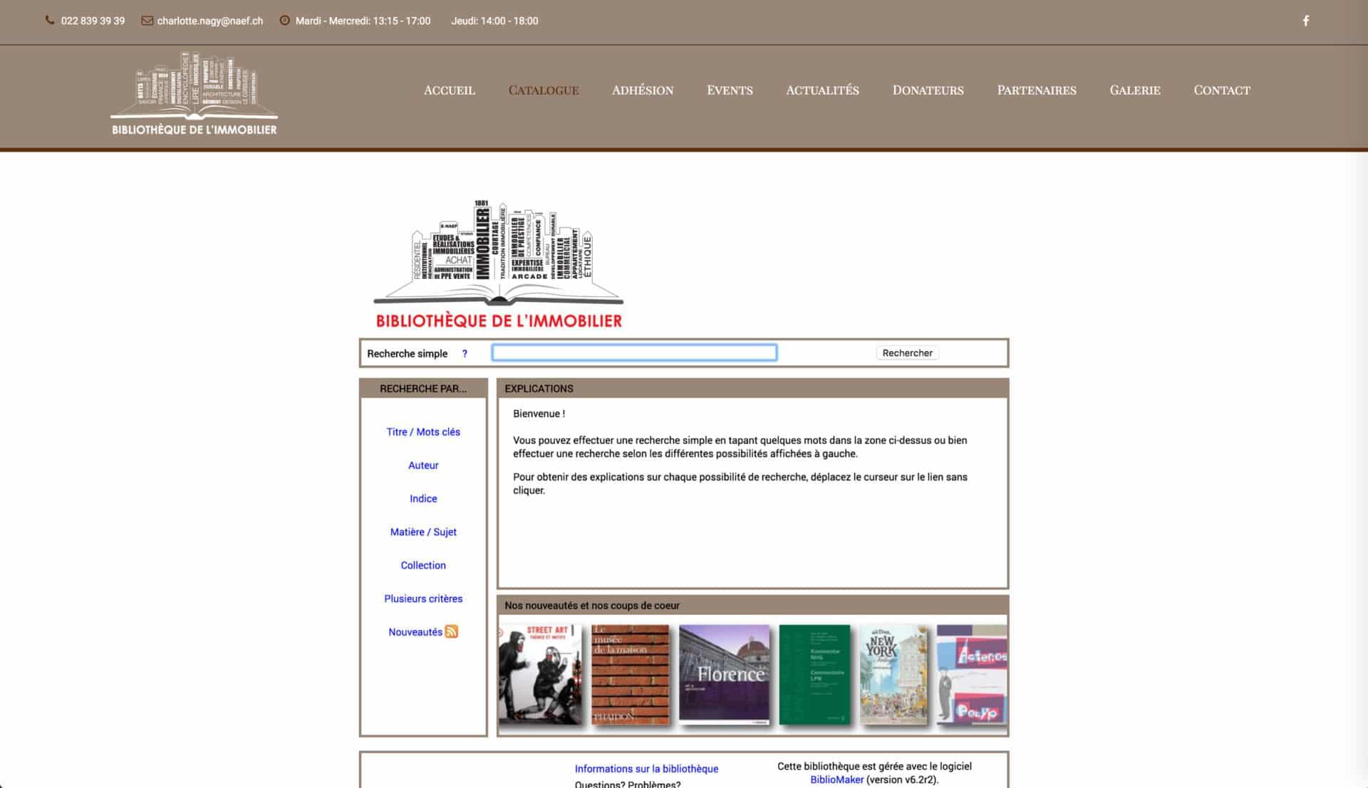 page catalogue biblio immo