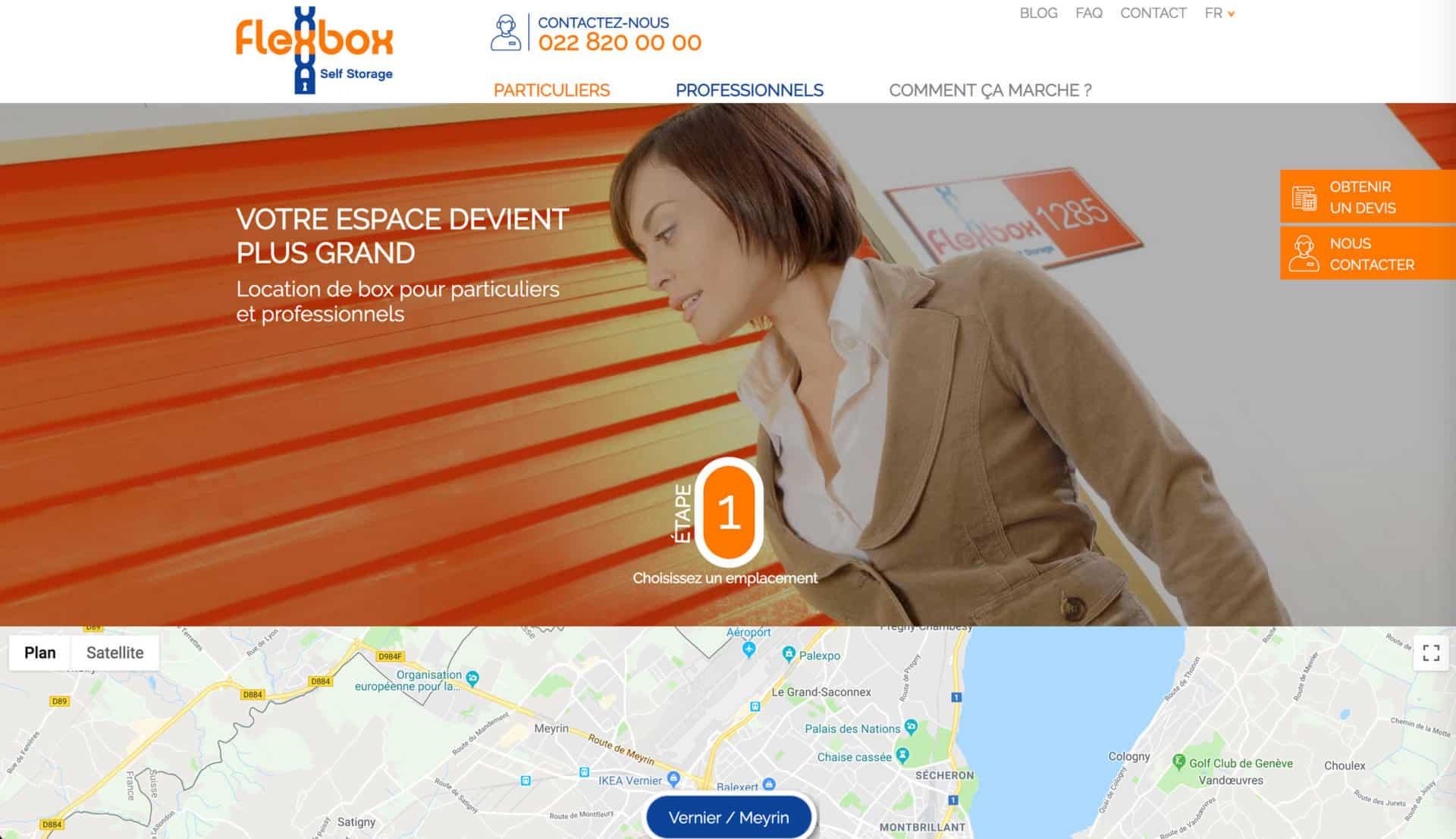 acceuil site flexbox