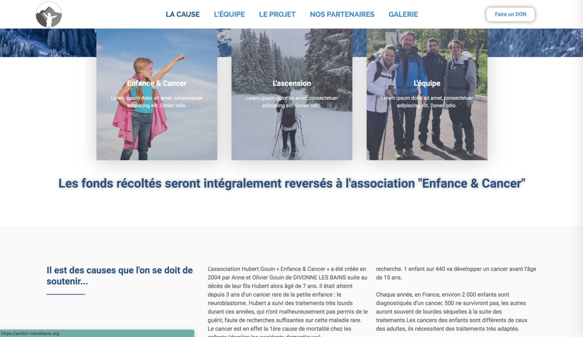 page cause action mt blanc