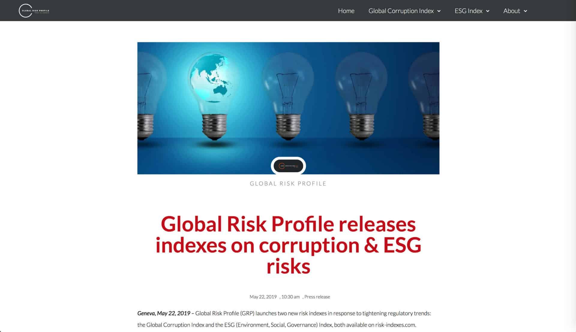 Risk presentation global 2