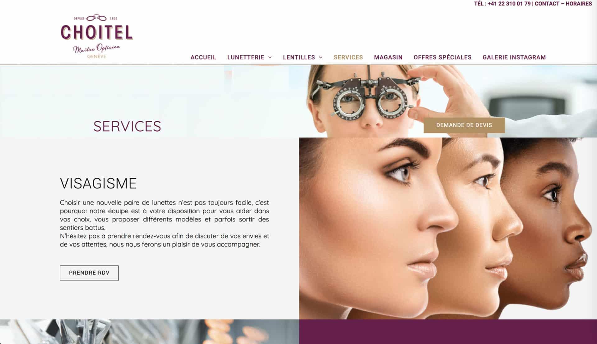 services opticien site
