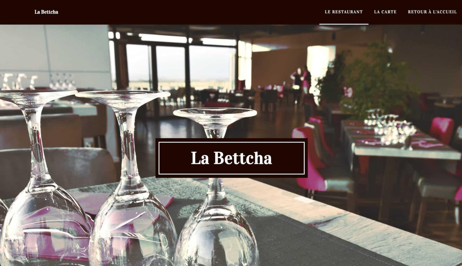accueil restaurant carte