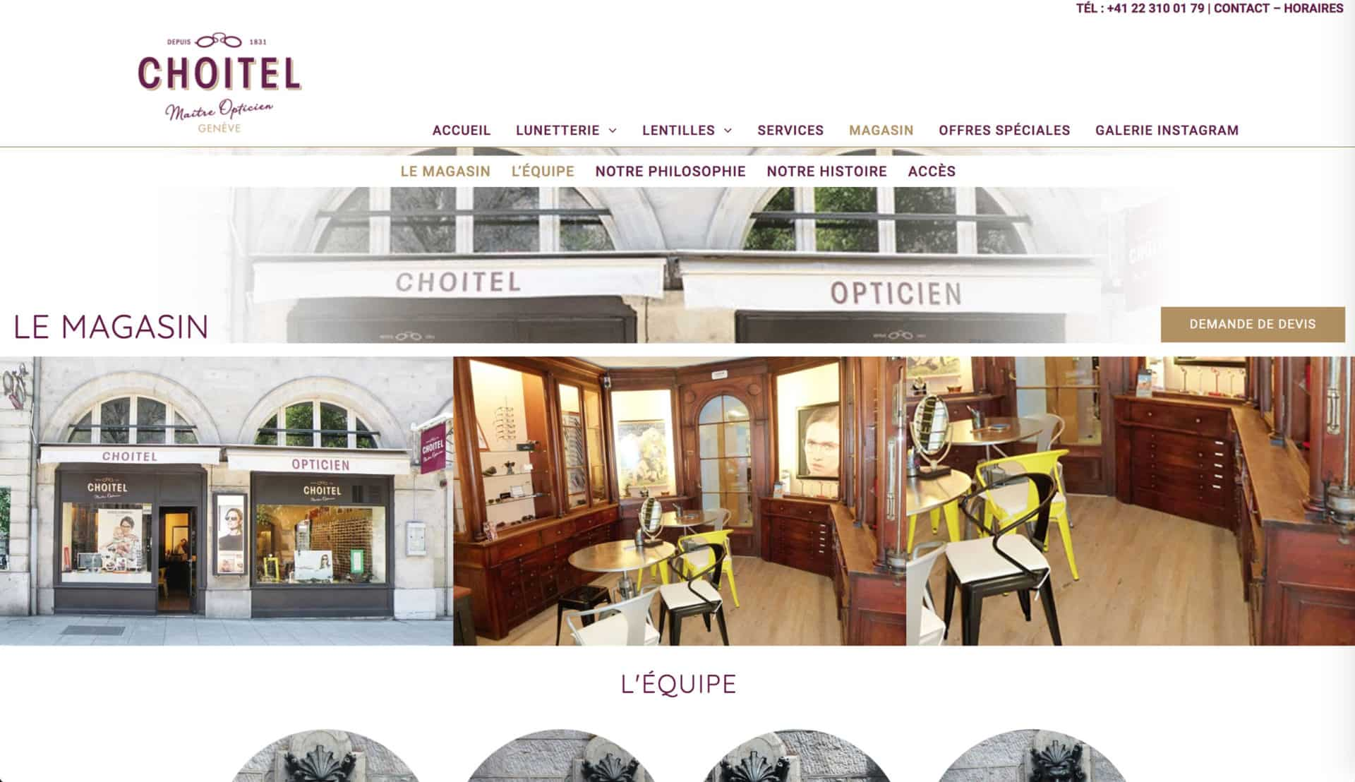 magasin site opticien