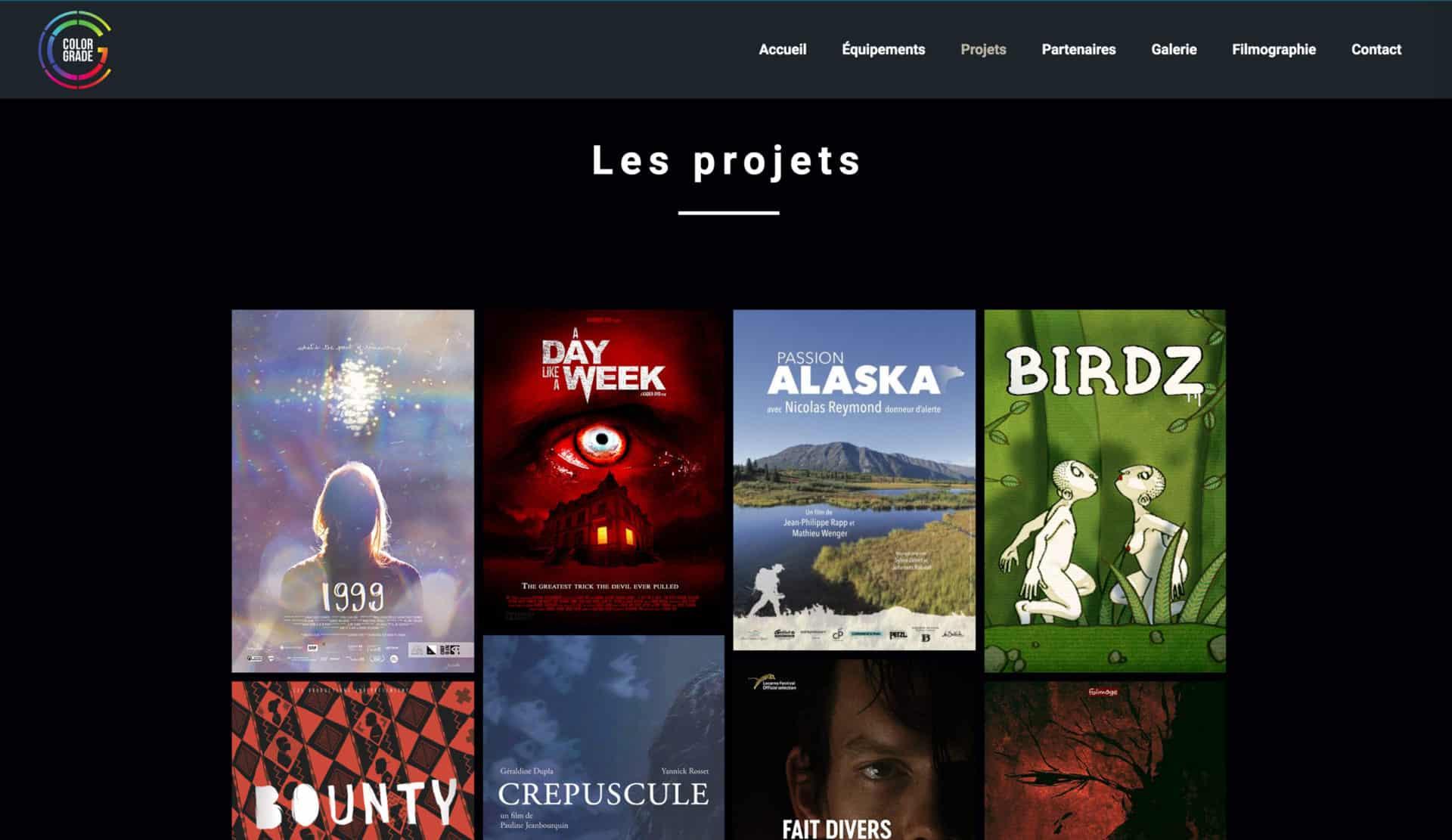 projet présentation film