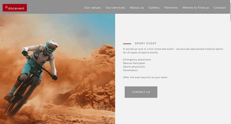 Docevent sport événement contact site internet vitrine
