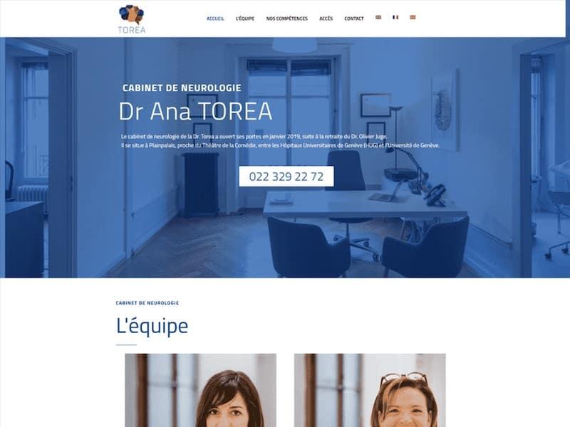 Site WordPress neurologie accueil Torea
