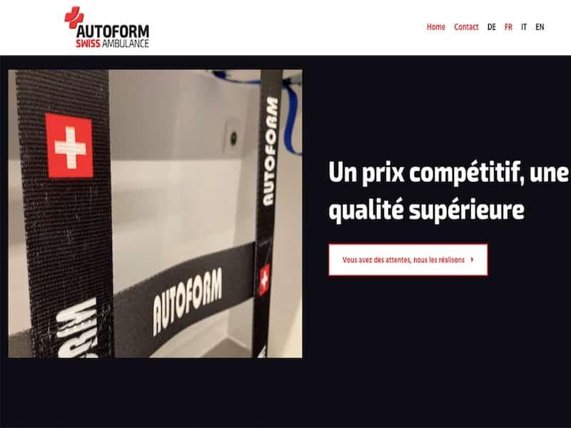Autoform Swiss Ambulance Prix compétitif qualité supérieur Site Vitrine