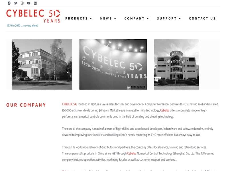 Cybelec Compagnie présentation Site vitrine
