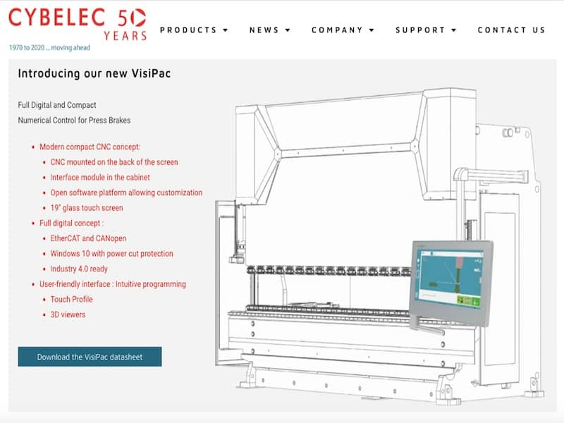Cybelec Page de garde introduction new VisiPac Site Vitrine