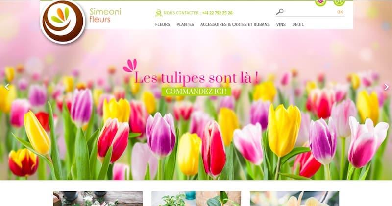 Simeoni Fleurs page commandez des tulipes Refonte site e-commerce