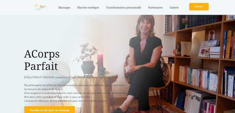 ACorps Parfait ch page d'accueil site internet