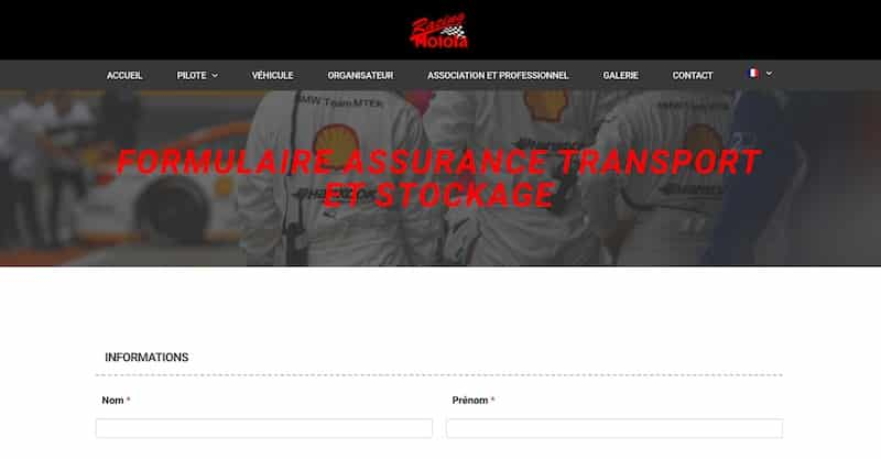 Assurance Circuit page formulaire assurance site vitrine