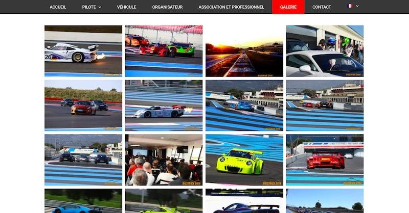 Assurance Circuit page galerie véhicule site vitrine