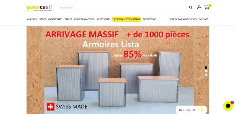 burocash page d'accueil site ecommerce