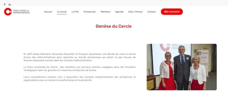 Cercle Suisse des Administratrices page le cercle