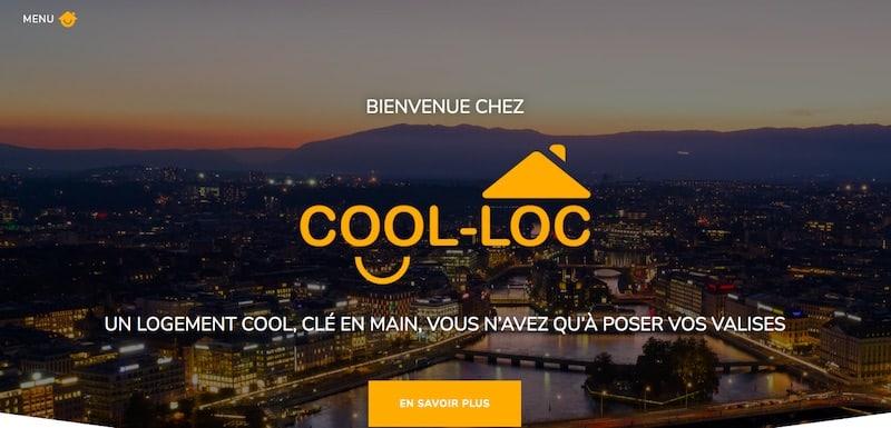 Cool-Loc page de garde site vitrine