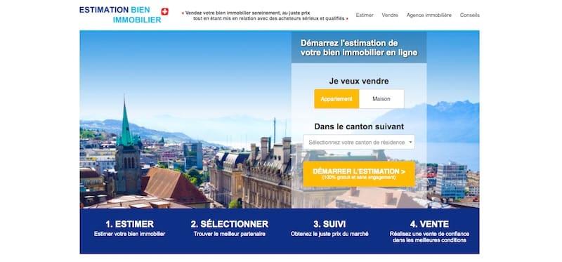 Estimation immobilière Suisse Page Accueil