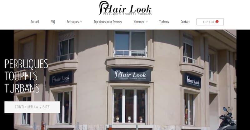 Hair Look page de garde site e-commerce