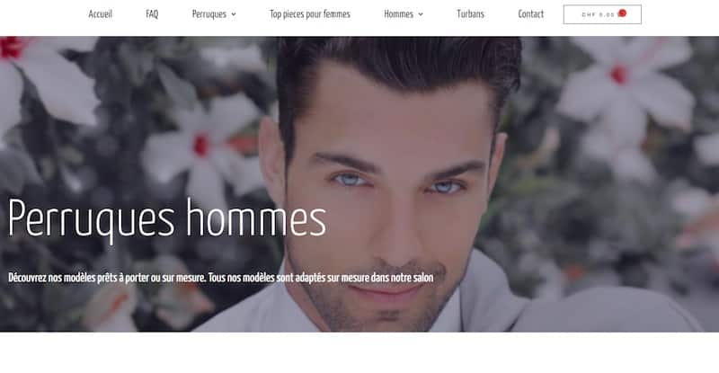 Hair Look perruques hommes site e-commerce