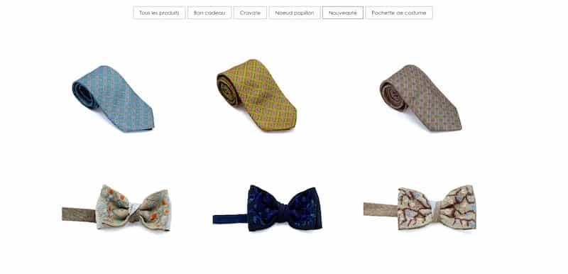 Monsieur List Page Boutique vente de produit site e-commerce