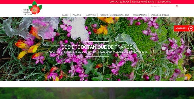 Société Botanique de France - page d'accueil site internet